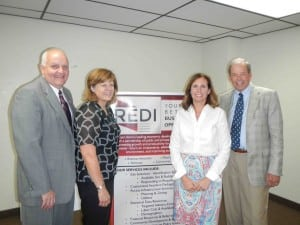 Regional Economic Development Corporation for Eastern Idaho, also known as REDI, held a meeting this week to elect members of the executive board of directors and talk about plans for the future. Pictured are R. Scott Reese, left, Darlene Gerry, Stephanie Cook and Park Price.